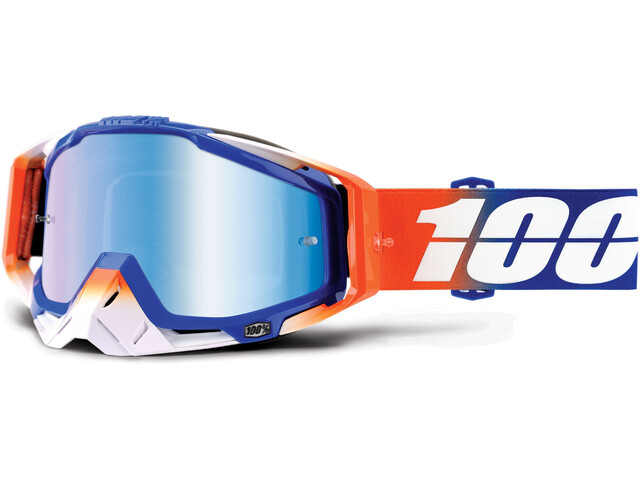 100% Racecraft Anti Fog Mirror Goggles rød/Blå